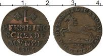 Изображение Монеты Брауншвайг-Люнебург 1 пфенниг 1805 Медь VF