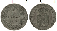 Изображение Монеты Бавария 6 крейцеров 1842 Серебро VF