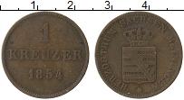 Изображение Монеты Саксе-Мейнинген 1 крейцер 1854 Медь XF