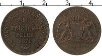 Изображение Монеты Баден 1 крейцер 1871 Медь XF