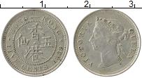 Изображение Монеты Гонконг 5 центов 1889 Серебро XF