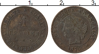 Изображение Монеты Франция 1 сантим 1875 Бронза XF-