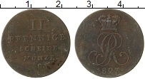 Изображение Монеты Ганновер 2 пфеннига 1827 Медь VF С