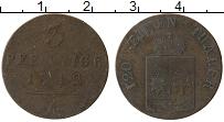 Изображение Монеты Вальдек-Пирмонт 3 пфеннига 1842 Медь VF