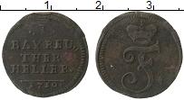 Изображение Монеты Германия Бранденбург-Байрот 1 геллер 1750 Медь VF
