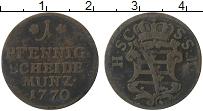 Изображение Монеты Саксе-Кобург-Саалфельд 1 пфенниг 1770 Медь VF
