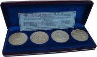 Изображение Подарочные монеты Россия 300 лет основания Санкт-петербурга 2003 Латунь UNC Набор из 4 памятных