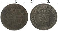 Продать Монеты Гессен-Дармштадт 3 крейцера 1864 Серебро