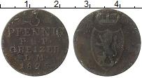 Изображение Монеты Германия Рейсс-Оберграйц 3 пфеннига 1825 Медь VF
