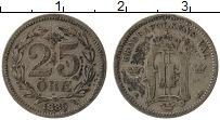 Изображение Монеты Швеция 25 эре 1885 Серебро VF Оскар II