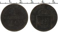 Изображение Монеты Пруссия 1 пфенниг 1847 Медь VF
