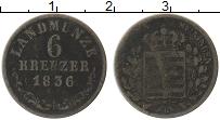 Изображение Монеты Саксен-Майнинген 6 крейцеров 1836 Серебро VF