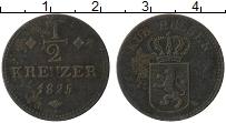 Изображение Монеты Гессен-Кассель 1/2 крейцера 1825 Медь VF