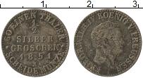 Изображение Монеты Пруссия 1/2 гроша 1851 Серебро VF Фридрих Вильгельм IV