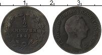 Изображение Монеты Баден 1/2 крейцера 1847 Медь VF