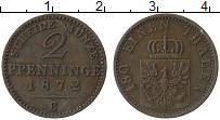 Изображение Монеты Пруссия 2 пфеннига 1872 Медь XF С
