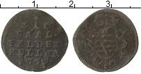 Изображение Монеты Саксе-Кобург-Саалфельд 1 хеллер 1759 Медь VF