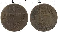 Изображение Монеты Саксе-Кобург-Саалфельд 1 пфенниг 1772 Медь VF