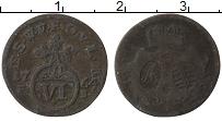 Изображение Монеты Саксен-Веймар-Эйзенах 6 пфеннигов 1764 Медь VF