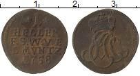 Продать Монеты Саксен-Веймар-Эйзенах 1 геллер 1758 Медь