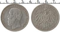 Продать Монеты Баден 5 марок 1900 Серебро