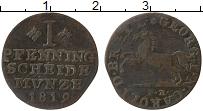 Изображение Монеты Германия Брауншвайг 1 пфенниг 1819 Медь VF