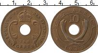 Изображение Монеты Восточная Африка 10 центов 1942 Бронза VF Георг VI