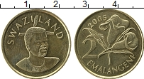 Изображение Монеты Африка Свазиленд 2 эмалангени 2005 Латунь XF