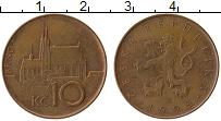 Изображение Монеты Чехия 10 крон 1993 Бронза XF Брно