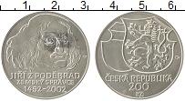 Изображение Монеты Чехия 200 крон 2002 Серебро UNC Йиржи из Подебрад