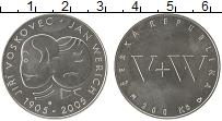 Изображение Монеты Чехия 200 крон 2005 Серебро UNC Иржи Восковец и Ян В