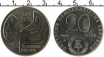 Изображение Монеты ГДР 20 марок 1979 Медно-никель UNC 30 лет ГДР. Проба
