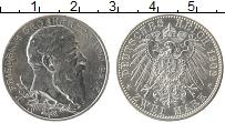 Продать Монеты Баден 2 марки 1902 Серебро