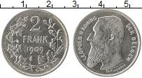 Изображение Монеты Бельгия 2 франка 1909 Серебро XF