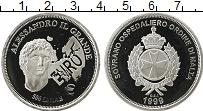 Изображение Монеты Мальтийский орден 500 лир 1999 Серебро Proof- Александр  Македонск