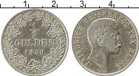 Продать Монеты Баден 1/2 гульдена 1864 Серебро