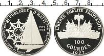 Изображение Монеты Гаити 100 гурдов 1977 Серебро Proof- Торговля с Европой