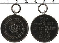 Изображение Монеты Пруссия Медаль 1890 Железо VF Медаль за 9 лет верн