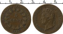 Изображение Монеты Африка Мавритания 5 сантим 1843 Бронза XF-