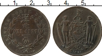 Продать Монеты Борнео 1 цент 1890 Бронза
