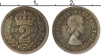 Изображение Монеты Великобритания 2 пенса 1966 Серебро Proof- Елизавета II