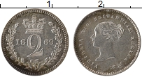 Изображение Монеты Великобритания 2 пенса 1869 Серебро Proof-