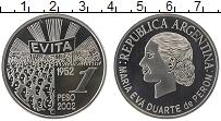 Продать Монеты Аргентина 1 песо 2002 Серебро
