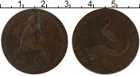 Изображение Монеты Великобритания 1/2 пенни 1792 Медь VF Токен, Бирмингем