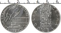Изображение Монеты Чехия 200 крон 1994 Серебро UNC 125 лет первого трам