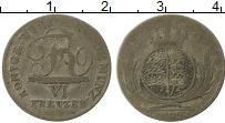 Изображение Монеты Вюртемберг 6 крейцеров 1820 Серебро VF