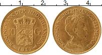 Изображение Монеты Нидерланды 10 гульденов 1917 Золото UNC
