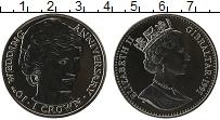 Изображение Монеты Гибралтар 1 крона 1991 Медно-никель UNC 10 лет Свадьбы принц