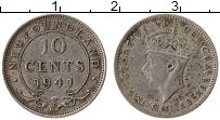 Изображение Монеты Ньюфаундленд 10 центов 1941 Серебро XF