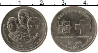 Изображение Монеты Таиланд 2 бата 1993 Медно-никель UNC- 100 лет красному кре